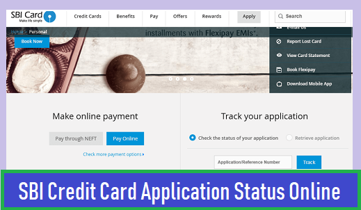 SBI Credit Card Application Status Online
