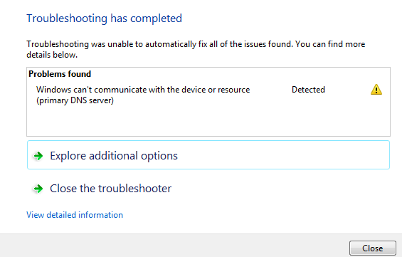 Windows Can't Communicate with the Device