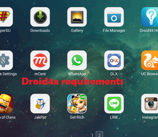 Droid4x requirements