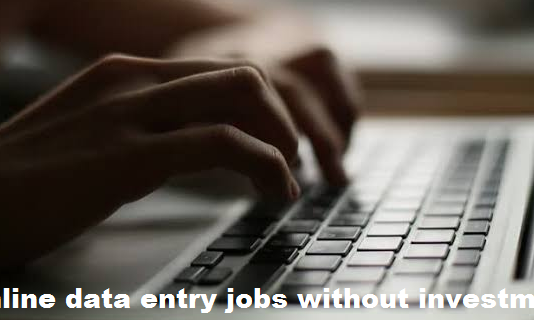 Online data entry jobs without investment