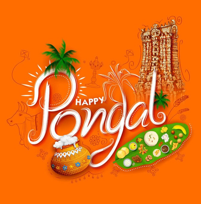 Happy Pongal 2020 wishes HD image