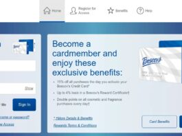 Boscov's credit login process
